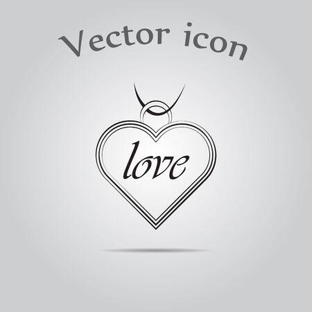 pendant: Pendant - Valentines Day vector icon Illustration