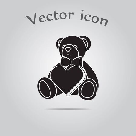 day nursery: Teddy bear - Valentines Day vector icon