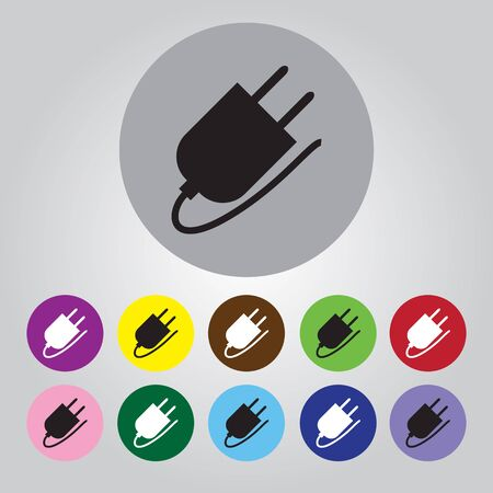 socket adapters: The power plug for the AC Illustration