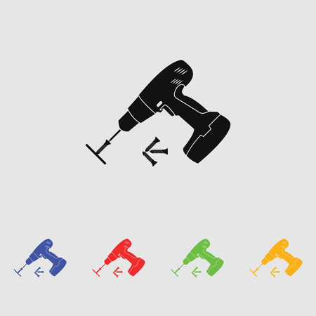 Elektrische schroevendraaier met schroeven