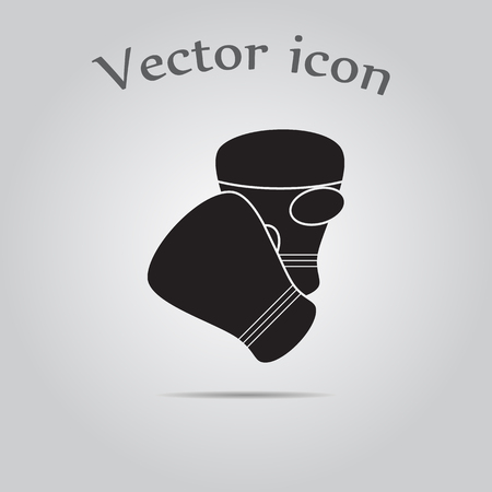 strong box: Boxing gloves sport icon Illustration