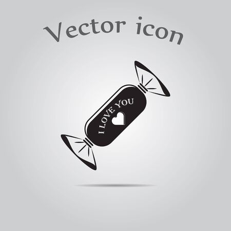 sweetener: Candy - Valentines Day vector icon Illustration
