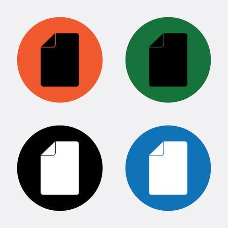 sheet: Sheet of paper icon Illustration
