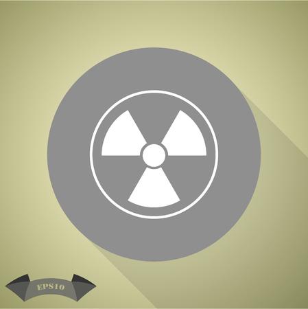 fission: The radiation icon. Radiation symbol.