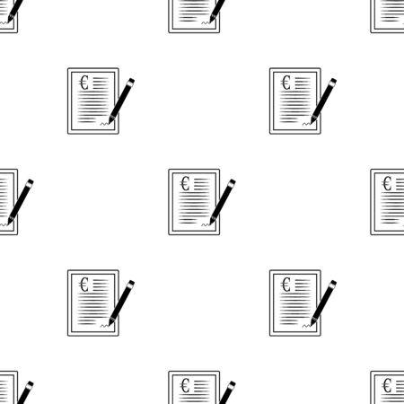 pacto: El icono del contrato de euros.