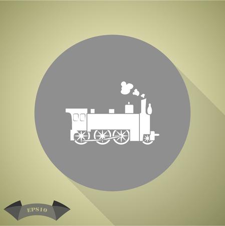 locomotive: Locomotive vector icon