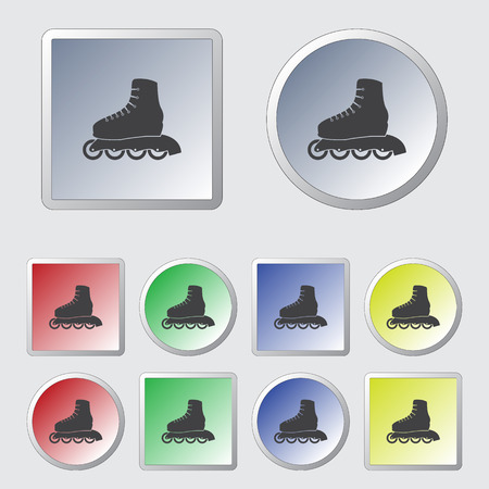 roller skate: Roller skate sport icon Illustration