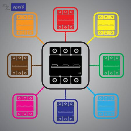 amps: One-phase machine 16 amps icon