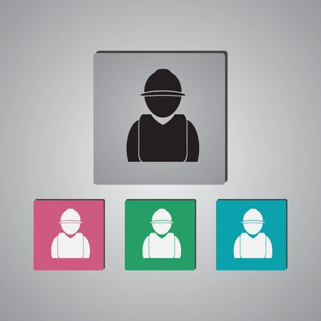 industrial worker: Industrial worker icon Illustration