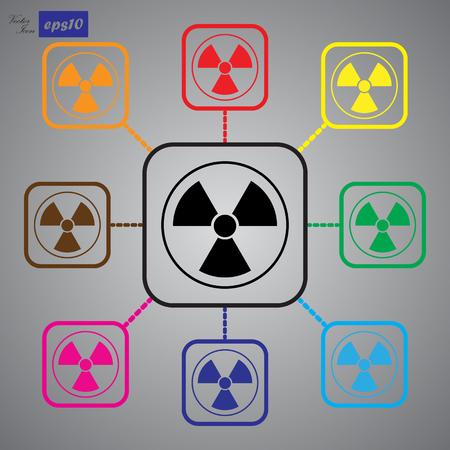 radiacion: El icono de la radiación. Símbolo de la radiación. Vectores