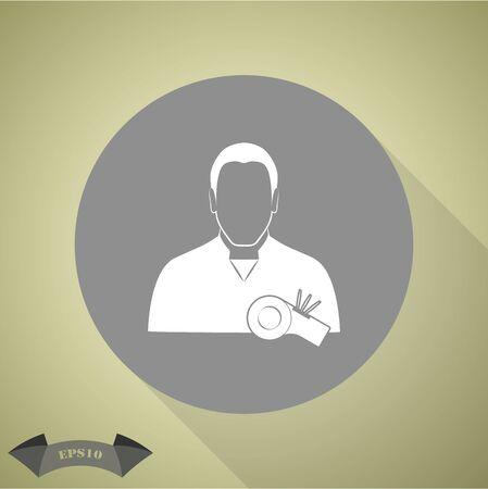 touchdown: Referee icon Illustration
