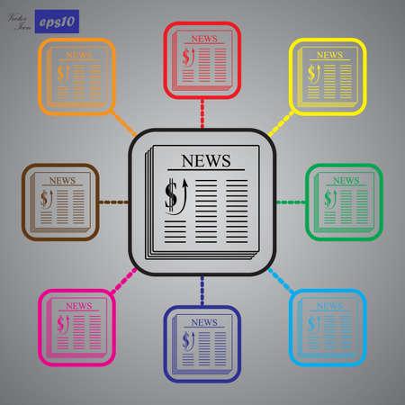 newspaper icon: Newspaper icon Illustration