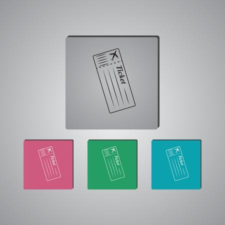 overseas: The blank ticket plane icon.
