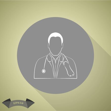 stethoscope icon: Doctor with stethoscope icon