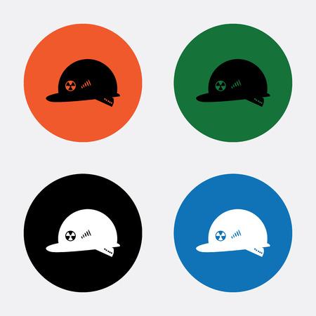 hard cap: Helmet nuclear scientist Illustration