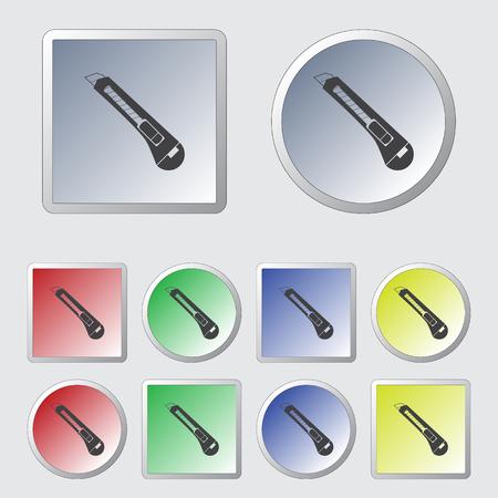 dangerous work: Stationery knife icon. Vector illustration. Illustration