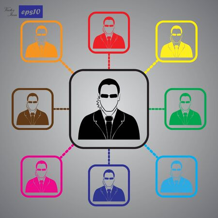 bodyguard: Bodyguard agent man simple icon