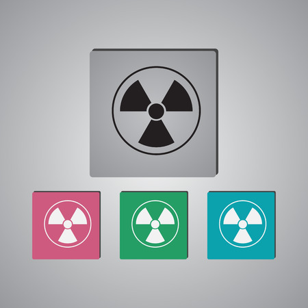 radiation: The radiation icon. Radiation symbol.