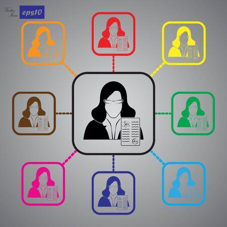 examiner: Teacher icon Illustration