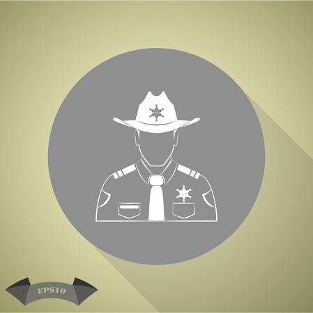 Sheriff Vector icon Vektoros illusztráció