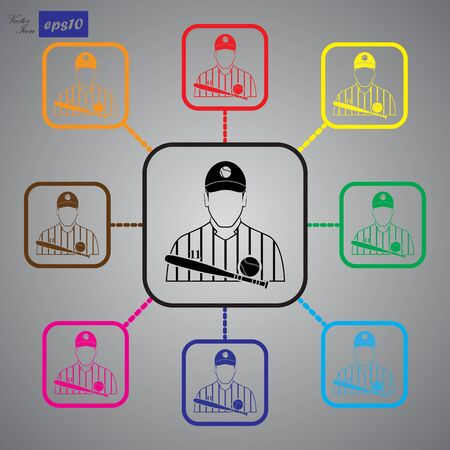 Baseball player icon Фото со стока - 52689298