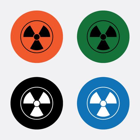 radiacion: El icono de la radiaci�n. S�mbolo de la radiaci�n. Vectores