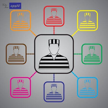prisoner: Prisoner Vector icon
