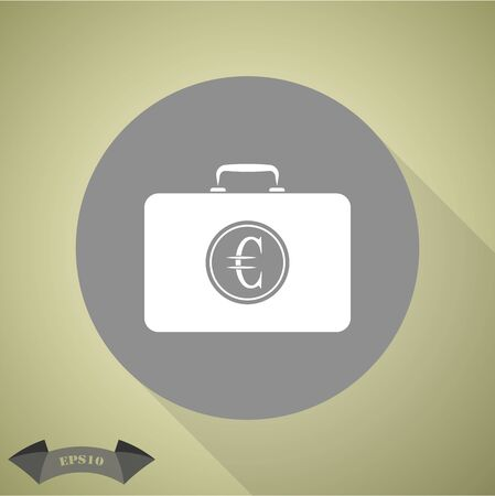 in case: Closed Case with euro Illustration