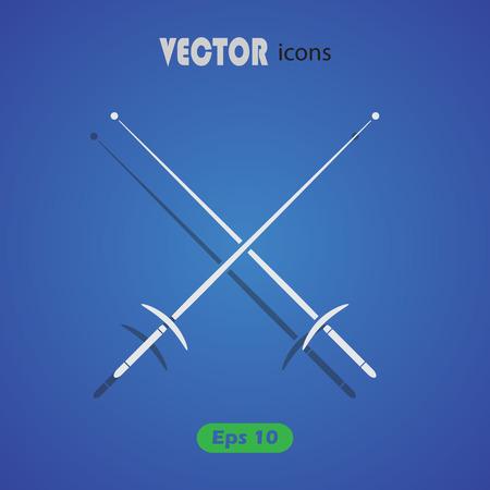 fencing sword: Fencing sport icons