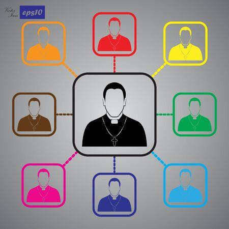 clergyman: Priest father icon
