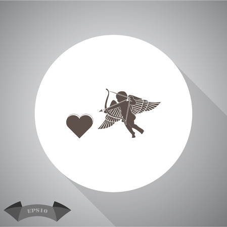sentimental: Cupid  - Valentines Day vector icon
