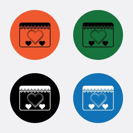 sentimental: Calendar - Valentines Day vector icon