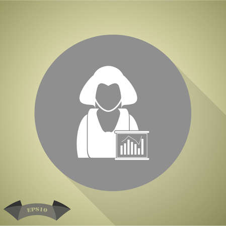 business woman: Business woman - Business chart