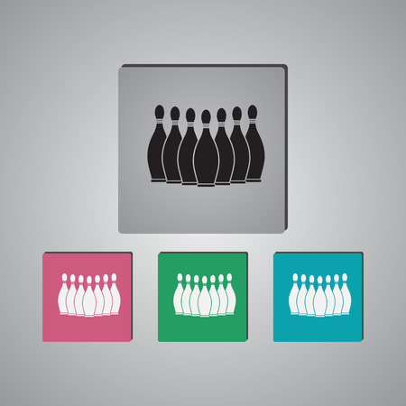 Bowling sport icon Иллюстрация