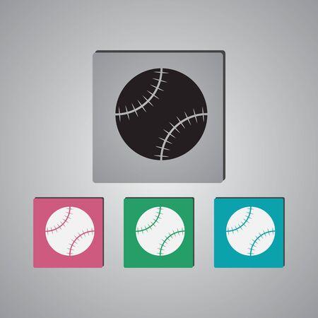 hardball: Baseball sport icon