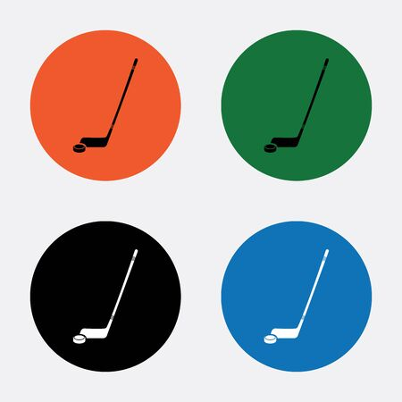 puck: Hockey sticks and puck sport icon