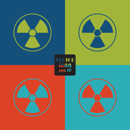 nuclear disaster: The radiation icon. Radiation symbol.