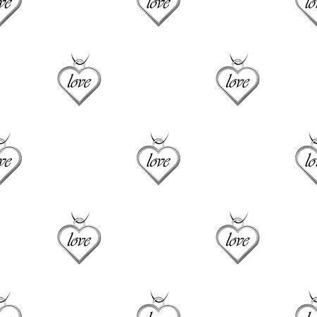 pendant: Pendant - Valentines Day icon Illustration