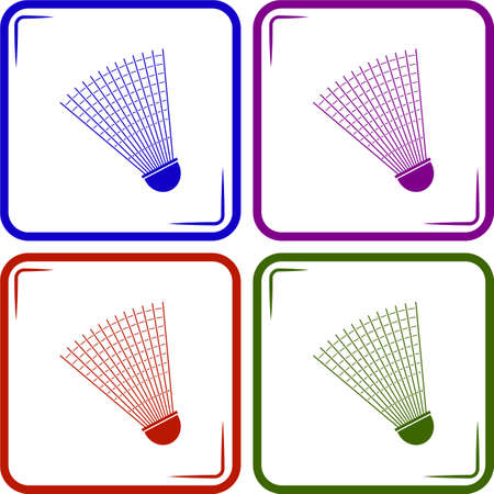 shuttlecock: Badminton Shuttlecock sport icon Illustration
