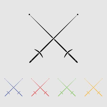esgrima: iconos del deporte de esgrima