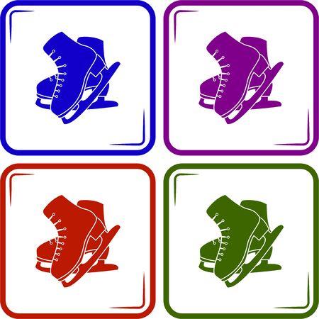 skates: Figure skates sport icon