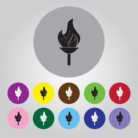 torch light: The flame sport icon Illustration