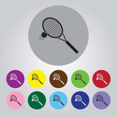 racket sport: Tennis racket sport icon