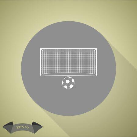 doel van het voetbal en de bal Sport icon
