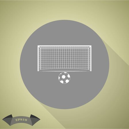 Soccer goal and ball Sport icon