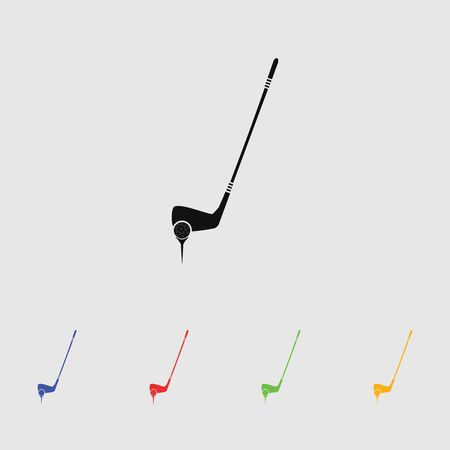 putter: Golf Ball And Putter sport icon Illustration