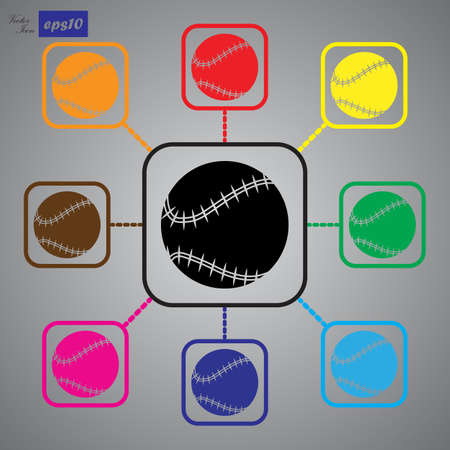 fast pitch: Baseball sport icon