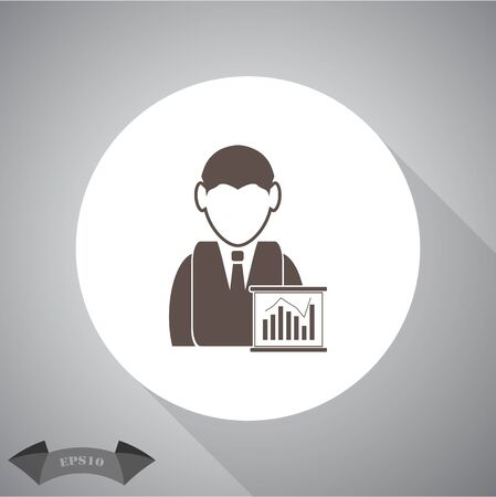 buisnessman: Businessman - Business chart Illustration