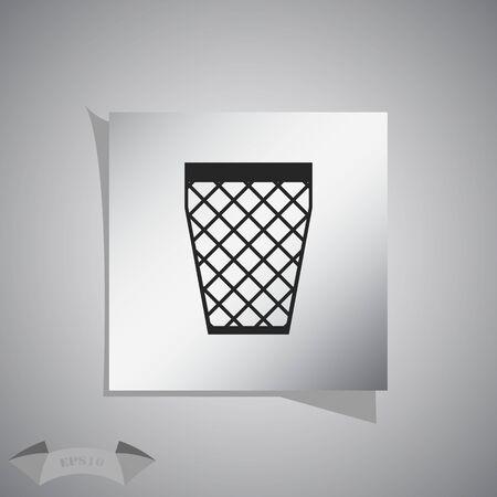 trash bin: Trash bin icon, vector illustration.