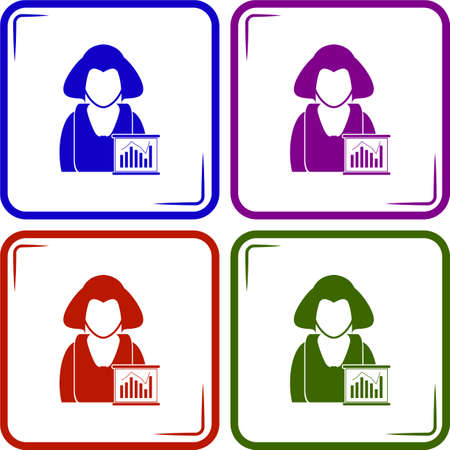 business: Business woman - Business chart